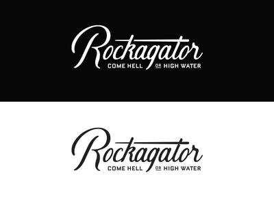 Rockagator Lifestyle apparel gear adventure utah waterproof water script backpack logo identity type branding typography
