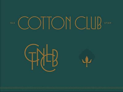 CTNCLB qualtrics 1920s club salt lake city utah copper monogram cotton art deco typography type