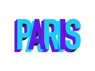 Paris qualtrics europe typography overlap dimension blue purple type france paris