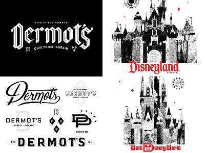 Top 4 of 2018 type qualtrics monogram branding texture sun castle dublin pub walt disney world disneyland disney
