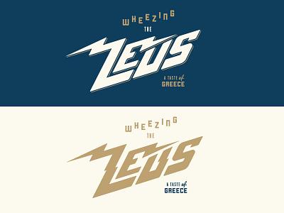 Wheezing The Zeus typography type qualtrics restaurant lightning food zeus mythology greek god greek greece