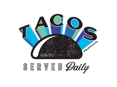 Tacos Sticker sticker script texture food typography type tacos qualtrics