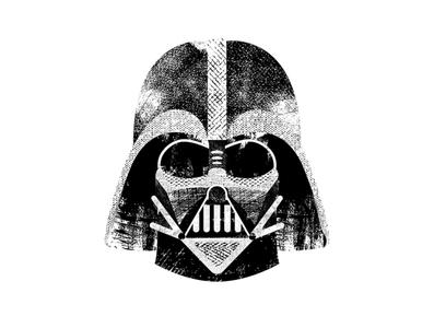 Darth Vader villain mask sith typography type texture darth vader star wars