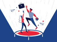 Career trampoline