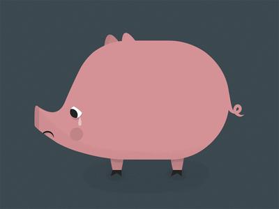 Sad piggy vegetarian crying vegan pork farm pig