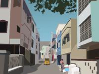 Indian Street Illustration