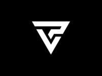 Monogram logo V + P