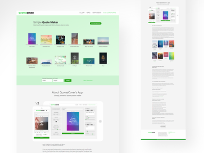 Quotescover New Homepage webapp web design thumbnails homepage design website