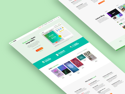 Redesign QuotesCover for 2020 web design