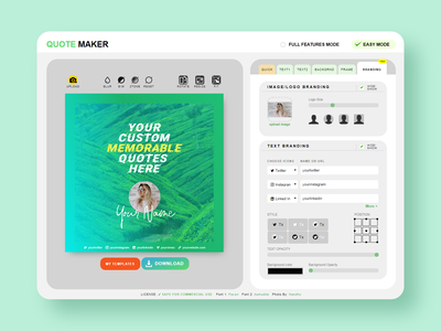 quotescover branding features UI/UX uidesign webapp userinterface ui
