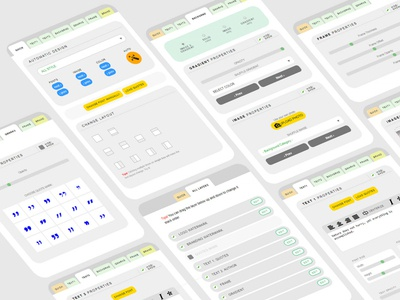 Quote Maker User interface for quotescover.com webapp website ui design tab ui