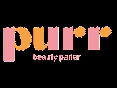 Purr Beauty Parlor Logo branding brand orange pink logo design logo