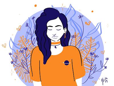 #drawthisinyourstylechallenge draw this in your style purple yellow blue digital illustration digital art illustration procreate