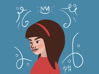 Big Hair Queen illustration digital illustration digital art procreate