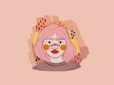 Dtiys challenge dtiys crown orange pink illustrator illustration digital art digital illustration procreate
