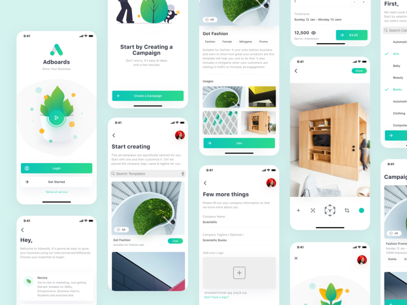 Adboards (Free Sketch File) exploration design modern free freebie minimal ux ui clean