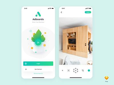Adboards (Free Sketch File) exploration design modern free freebie minimal ux ui clean