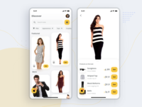 Looks- Apparel store exploration app design exploration uiux android simple modern minimal ux ui clean
