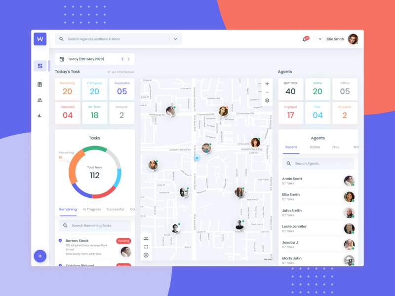 Workforce - Field Force management workforce work uiux design simple modern minimal material ux ui clean