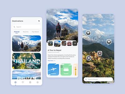 Vromon - Travel App exploration travelling traveling travel agency travel app tour travel ui mobile design mobile ui mobile app design mobile app app design app