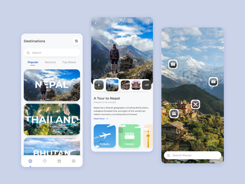 Vromon - Travel App exploration travelling traveling travel agency travel app tour travel ui mobile design mobile ui mobile app design mobile app app design app