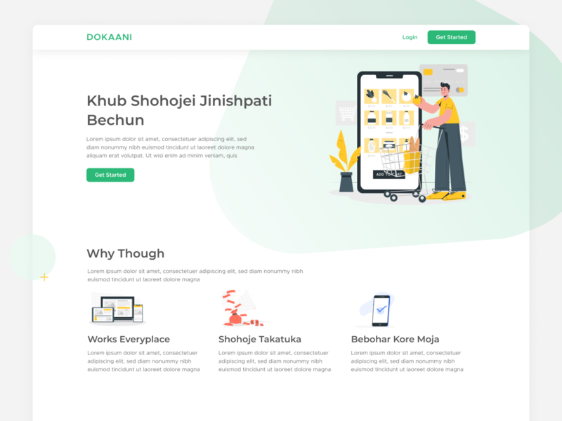 Dokaani, E-commerce Platform platform ecommerce uxdesign ux uidesign ui landing page website