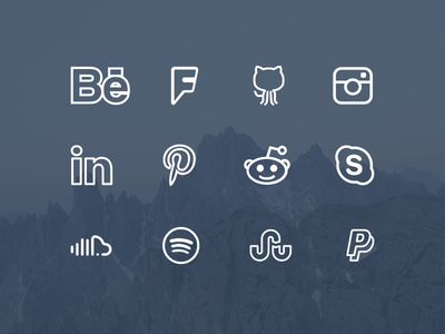 Simple Line Icons Extended [Free Icon  Font] icon font freebie social line simple clean free icon
