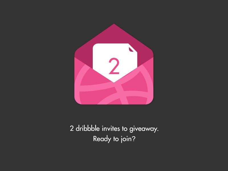 Dribbble Invites X2 futurua space minimal prospects invitations material dark pink invites simple clean