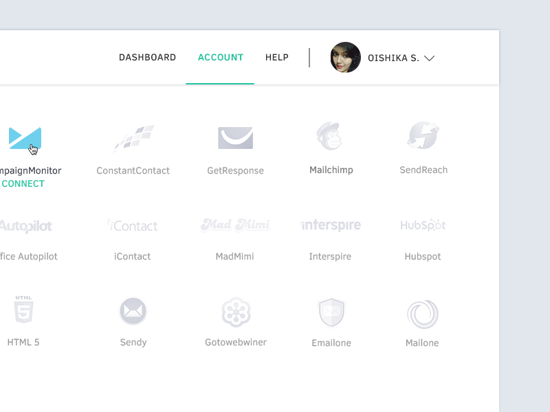 Leadify App typography material modern clean ui