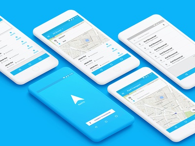 Rasta App (Concept) transport finder clean uiux ux ui material android