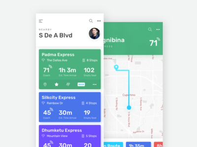 Train Tracking App line icons uiux tracking train iphonex ios flat material modern uxclean ui