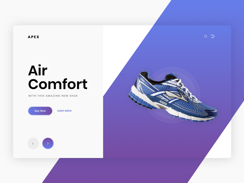Shoe Commerce Header Exploration header modern clean ux ui