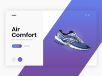 Shoe Commerce Header Exploration