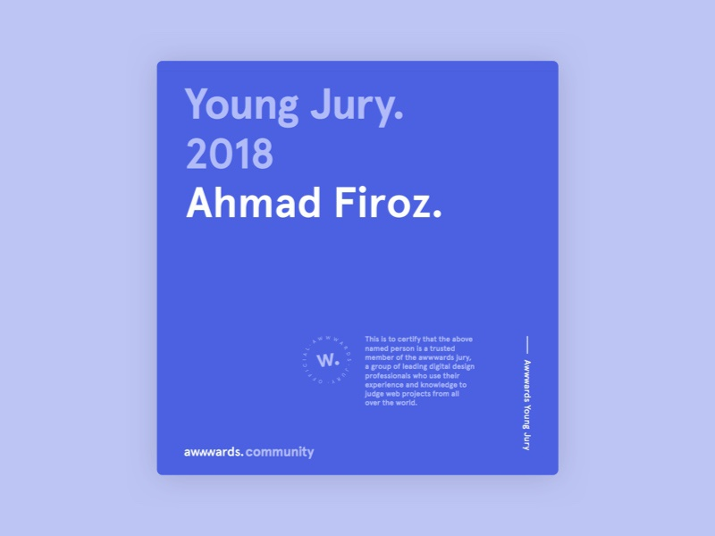 Joined Awwwards Community jury young jury judge web clean awwwards