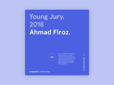 Joined Awwwards Community jury young jury judge web clean awwwards