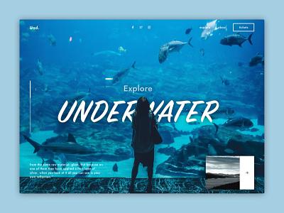 Underwater Header Exploration exploration template header clean ux ui