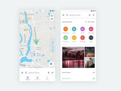 Dingi Map Redesign Concept ui ux android modern minimal material clean