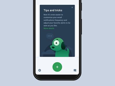 Beholddy mascot mascot android mobile app branding design interface illustration dashboard alerts ui flat