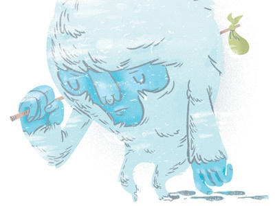 Lost In The Cold pictoplasma snow sad yeti missing link project