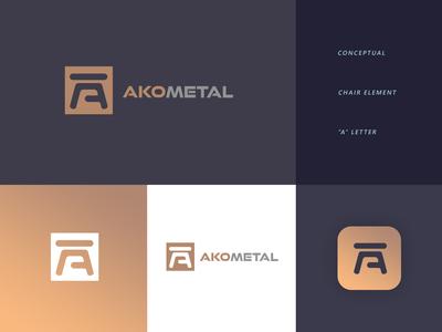AKO METAL logo design