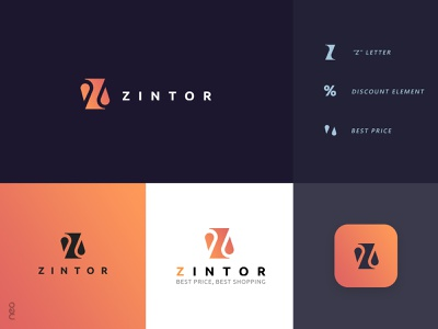 Zintor logo smart shop price logo neostudio lettermark z logo discount shop zintor branding brand logodesign logotype logos logo shopping shop logo prices zlogo logo design