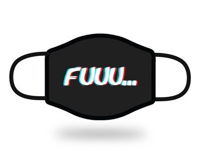 Fuuu... Face mask graphic illustration vector fun masks mask faces black challenge face mask face neostudio design graphic design