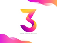 Number 3 Typo design