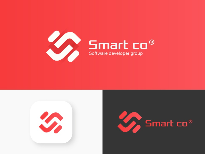 Smart Tech logo design brand logo smart logos smart tech neostudio.ir neostudio smart logo smart typography branding illustration studio logo design graphic design logo design