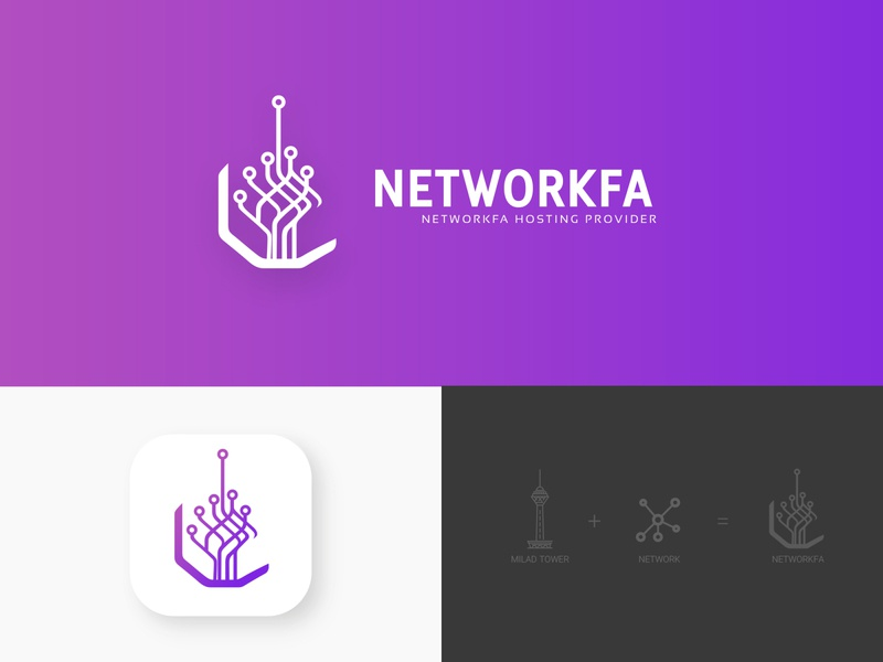 Iranian web hosting logo illustration logo design logodesign graphic milad tower logo iran logo creative logo logo hosting brand networkfa network iranian host iran hosting logo server host hosting tower milad tower