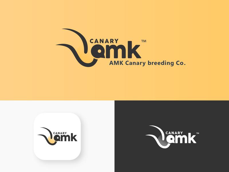 CANARY AMK Logo design graphic design graphic design styles neostudio brand design brand branding inspiration logo design logodesign logo birds canary islands bird logo bird canary