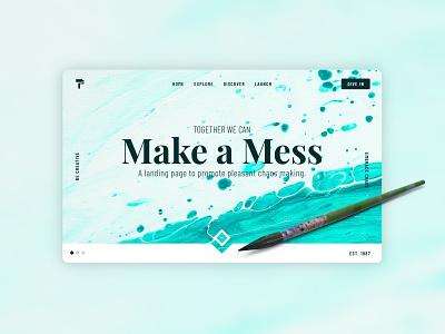 Make a Mess - Web Design Concept ui adobe xd design adobe xd austin web designer web drawing painting mess paint artistic maker creator artist graphic design designer design web design website creative
