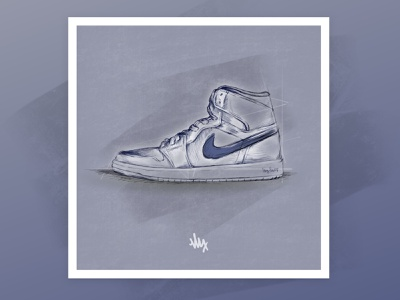 Can I kick it? austin artist ipad sketch sneakers high tops nike illustrator digital art art procreate illustration drawing