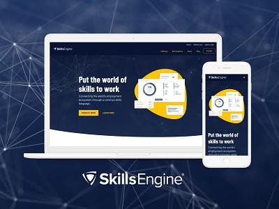 SkillsEngine.com Redesign interaction design experience design user experience website branding design web design ui webflow no code ux