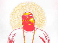 Notorious BIG - Hip hop iPad portrait illustration